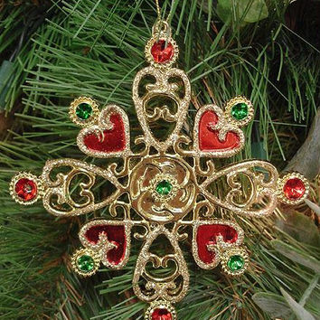 Christmas Ornament - Gold Snowflake