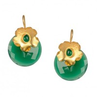 Floral Gold Plated Earrings - Accessories