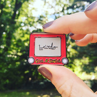 WEIRDO Etch A Sketch Pin