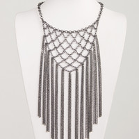 Netted Fringe Necklace