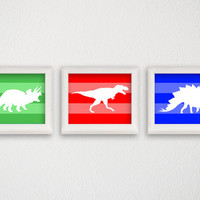 Dinosaur Print Set, Baby Boy Nursery, Nursery Art Print, Dinosaur Poster, Dinosaur Wall Decor, Dinosaur Wall Art, Modern Home Decor