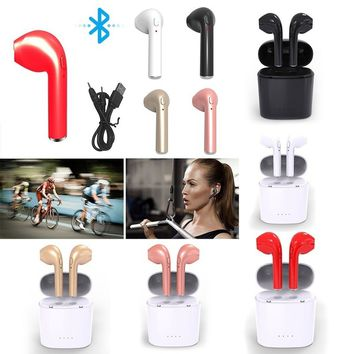 Fashion Bluetooth 4.1 Earphone Wireless Headset In-Ear Stereo Sport Headphone Earbuds with Mic for iPhone Samsung