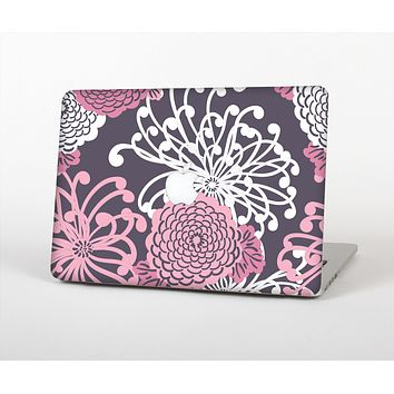 The Pink and White Solid Flowers Skin Set for the Apple MacBook Pro 15""