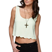 LA Hearts Cropped Scallop Tank at PacSun.com
