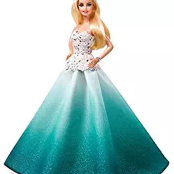 BARBIE COLLECTOR 2016 Holiday BARBIE DOLL, Aqua Ombre Sparkle Skirt BARBIE DOLL