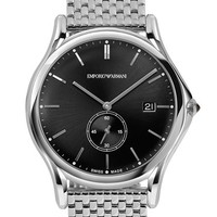 Men's Emporio Armani Swiss Made Round Bracelet Watch, 40mm