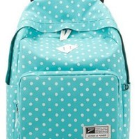 Eshops Lightweight Casual Daypack Backpack for College Bookbag for Women Girls School Bags (Blue)