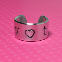 Personalized Initial Love Ring