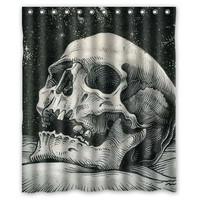 Painting skull custom Shower Curtain Bathroom decor fashion design various sizes Free Shipping