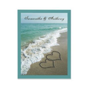 Sand Hearts~ Beach Destination Wedding Invitation from Zazzle.com