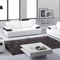 Free Shipping Classic 123 sectional living room sofa  Top grain leather Sofa solid wood frame, fashion and durable the furniture