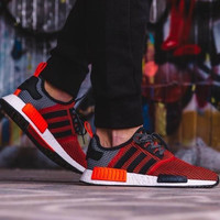 """""""Adidas"""" NMD Trending Fashion Casual Sports Shoes Red"""