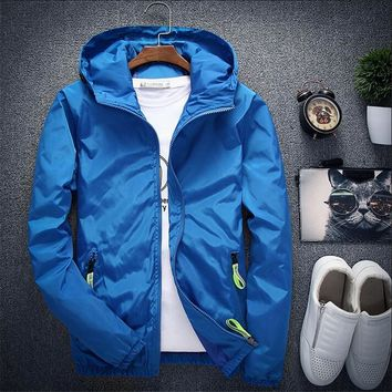 Trendy Plus Size 6XL 7XL New Spring Autumn Bomber Jacket Men Casual Windbreaker Zipper Thin Hood Raincoat Outwear Male Hip Hop Jacket AT_94_13