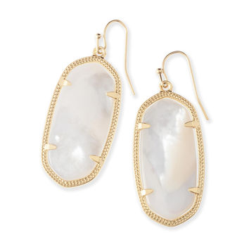 Kendra Scott Elle Ivory Mother of Pearl Gold Plated Earrings