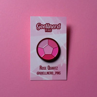 Steven Universe Rose Quartz Gem Enamel Pin