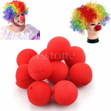ICIK272 10pcs Clown Nose Foam Circus Carnival Party Supplies Cosplay Costumes Tools Party Trick Toys
