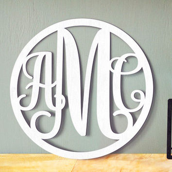 Wooden Monogram - Unpainted Wood Monogram - Wooden Letters - Large Wood Monogram - Nursery Monogram - Wooden Wall Sign