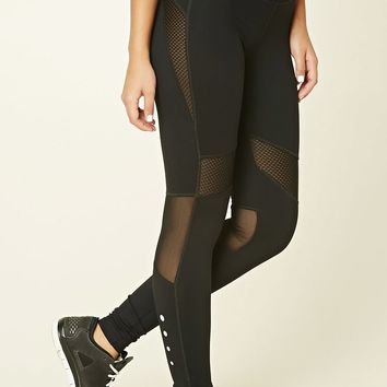 Active Mesh Panel Athletic Leggings