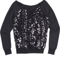 Sequin Front Sweatshirt