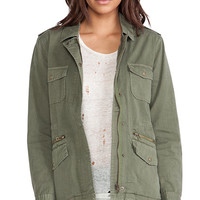 Velvet by Graham & Spencer x Lily Aldridge Ruby Army Jacket in Olive