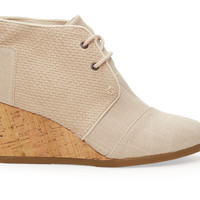 Whisper Burlap Textured Women's Desert Wedge