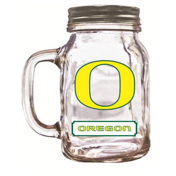 16Oz Mason Jar Oregon Ducks