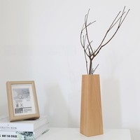 Wooden Plant Vase Home Decor