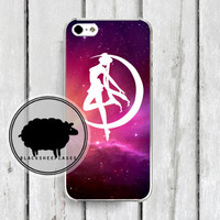 Sailor Moon Transformation Galaxy Stars iPhone 4 4s Case by blacksheepcases