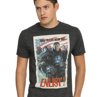 Fallout 4 Brotherhood Of Steel Enlist Poster T-Shirt