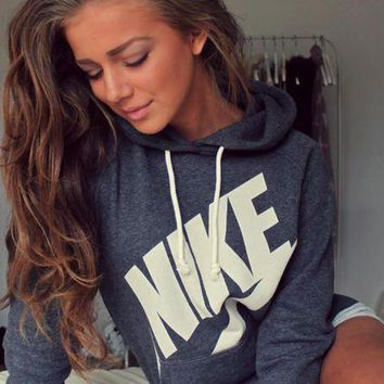 DCCKU62 NIKE Hooded Top Sweater Pullover Sweatshirt Hoodie