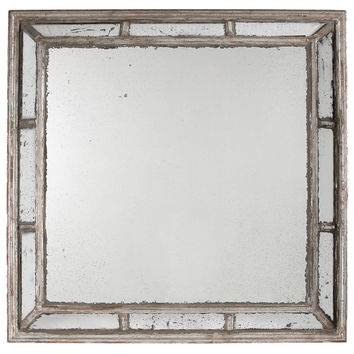 Mirrors, Rylie Wall Mirror, Antiqued SIlver, Wall Mirrors
