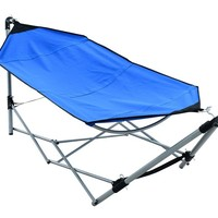 Cross-steel Piped Portable Hammock-Styled Camping Bed | HomeSuperstore