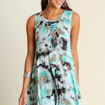 Tie Dye Dress - Jade