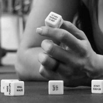 1 Swole Dice Set Of 6 Laser Printed 19mm Dice 46K Random Fitness Routines 5 No-Equipment, 1 Equipment Add Variety Spontaneity To Workout Gym Strength Training Weight Lifting Circuit