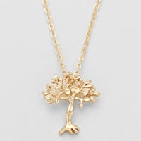 Tree Of Life Metal Necklace Gold