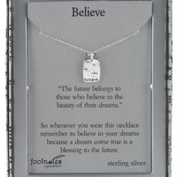 Footnotes Inspirational Believe Necklace
