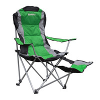 Green Polyester Foldable Footrest Camping Chair | Overstock.com Shopping - The Best Deals on Camp Furniture