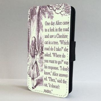 Alice In Wonderland Story Quote FLIP PHONE CASE COVER for IPHONE SAMSUNG