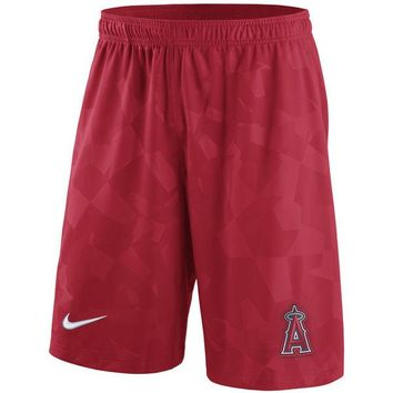 Nike Men's Los Angeles Angels MLB 10-Inch Dri-FIT Knit Shorts