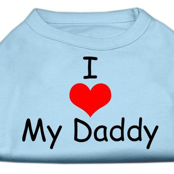I Love My Daddy Screen Print Shirts Baby Blue Xl (16)