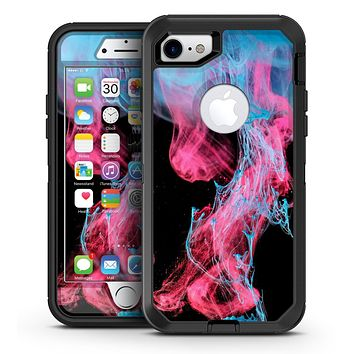 Vivid Pink and Teal liquid Cloud - iPhone 7 or 7 Plus OtterBox Defender Case Skin Decal Kit
