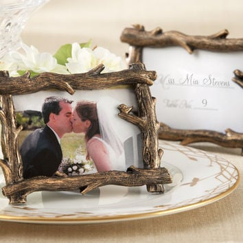 Rustic Branch Place Card Holder and Photo Holder