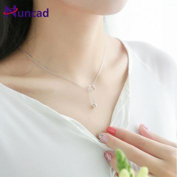2017 New Lovely Silver Color Necklace Tiny Cute Hollow Cat Bells Pendants Odd Fancy Jewelry Charm Pendant Necklace