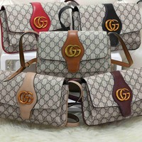 """Gucci"" Women Fashion Casual Simple Classic Print Lock All-match Large Capacity Travel Single Shoulder Bag"