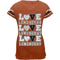 Texas - Foil Love Game Day Girls Youth T-Shirt - 20 Orange