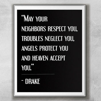 DIY Printable 11x14 Poster-Drake-Rap Lyric-INSTANT DOWNLOAD