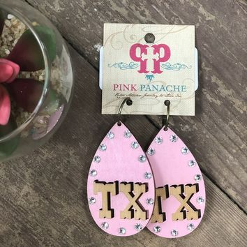 Pink Panahe Light pink TX Earrings
