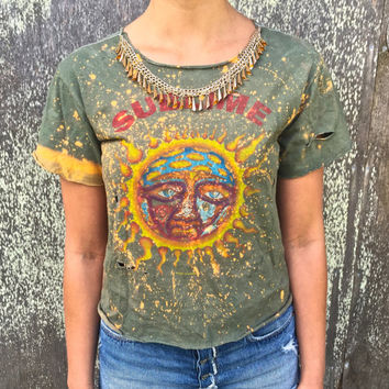 DISCOUNTED Vintage upcycled Sublime rock t-shirt