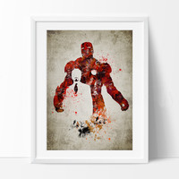 Iron man Art Print, Iron man Poster, Iron man Wall Art, Superheroes Poster, Super Hero, Marvel art, For gift, ironman art print(269)