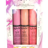 NYX Cosmetics Enchanted Kiss Butter Lip Gloss Set 3 Piece Set